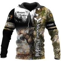 moose hunting camo 3d print hoodies menwomen harajuku fashion hooded sweatshirt autumn hoody casual streetwear hoodie sl 074