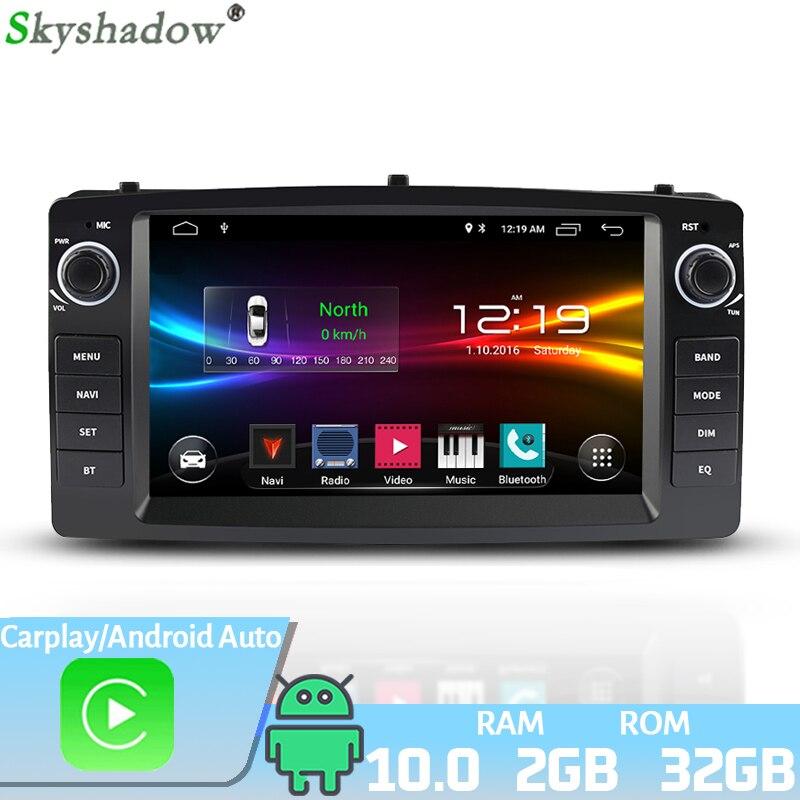 """7 """"DSP Android 10,0 2G + 32G Radio de coche GPS Radio Bluetooth Carplay Autoradio multimedia Radio Coche para coche TOYOTA Corolla E120 e 120 BYD F3"""