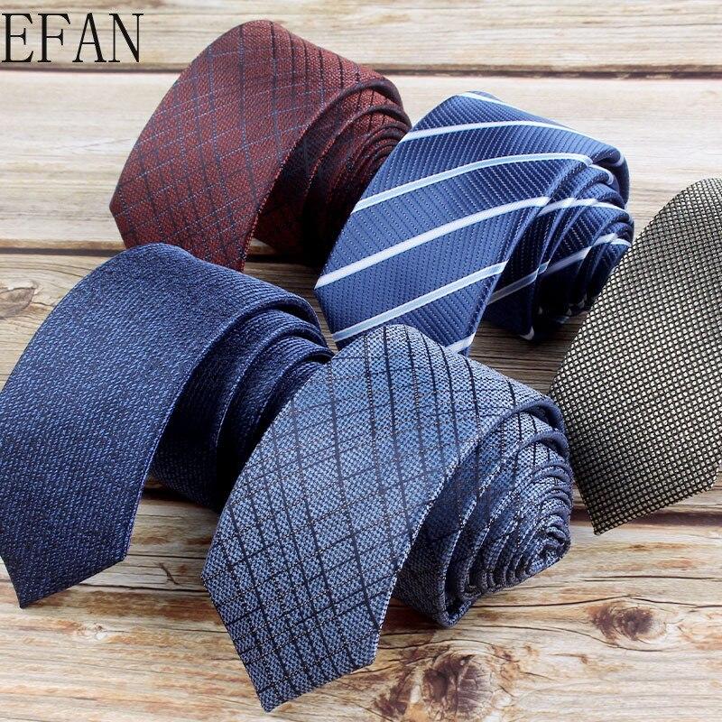 Cravates moulantes en Polyester pour hommes 6cm, col étroit, à rayures, accessoires de fête de mariage, vente en gros