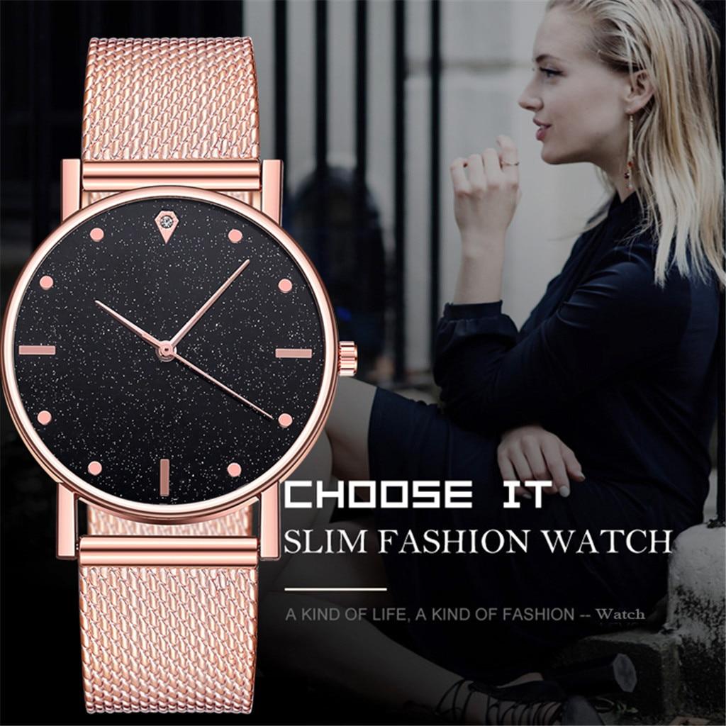 Relógio de luxo feminino quartzo aço inoxidável dial bracele relógios moda feminina 2020 montre femme acier inoxydable
