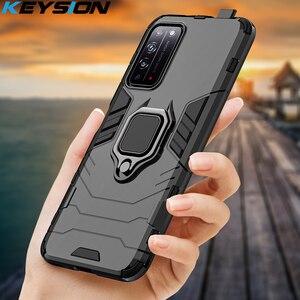 Ударопрочный армированный чехол KEYSION для Honor X10 5G 30 Pro + Plus 30s 9C 9S 9A, чехол-подставка с кольцом для телефона Huawei Y5P Y6P Y7P Y8P