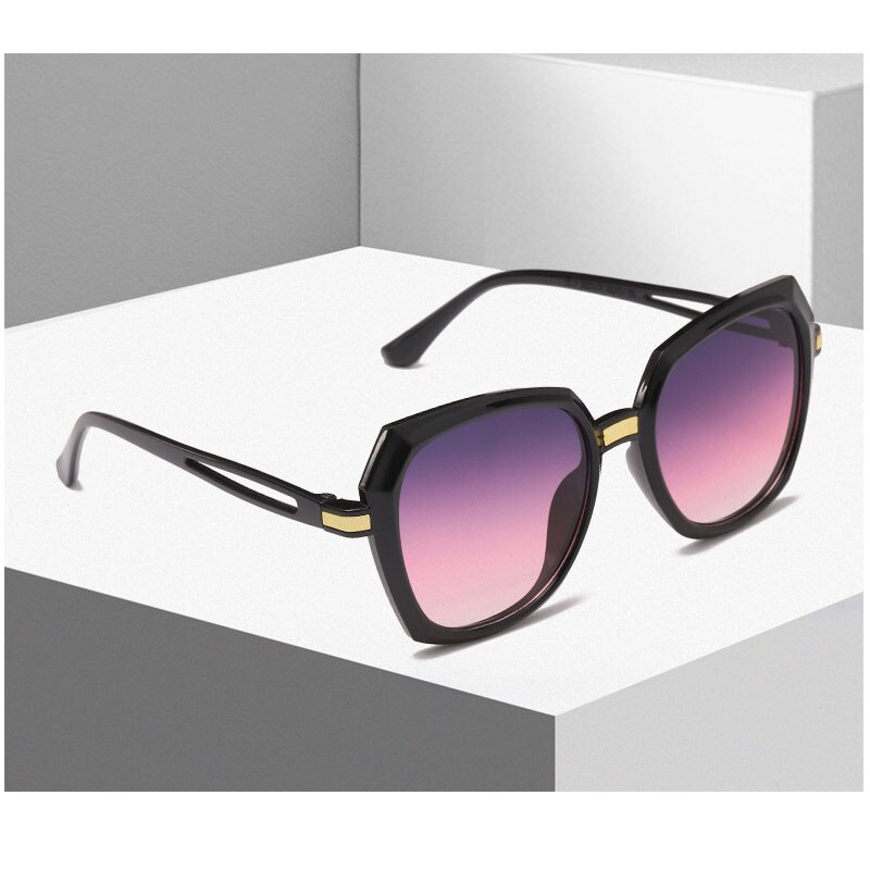 2020 New Fashion Retro Colorful Gradient Sun Glasses Cateye Sunglasses Men Women Vintage Male Female