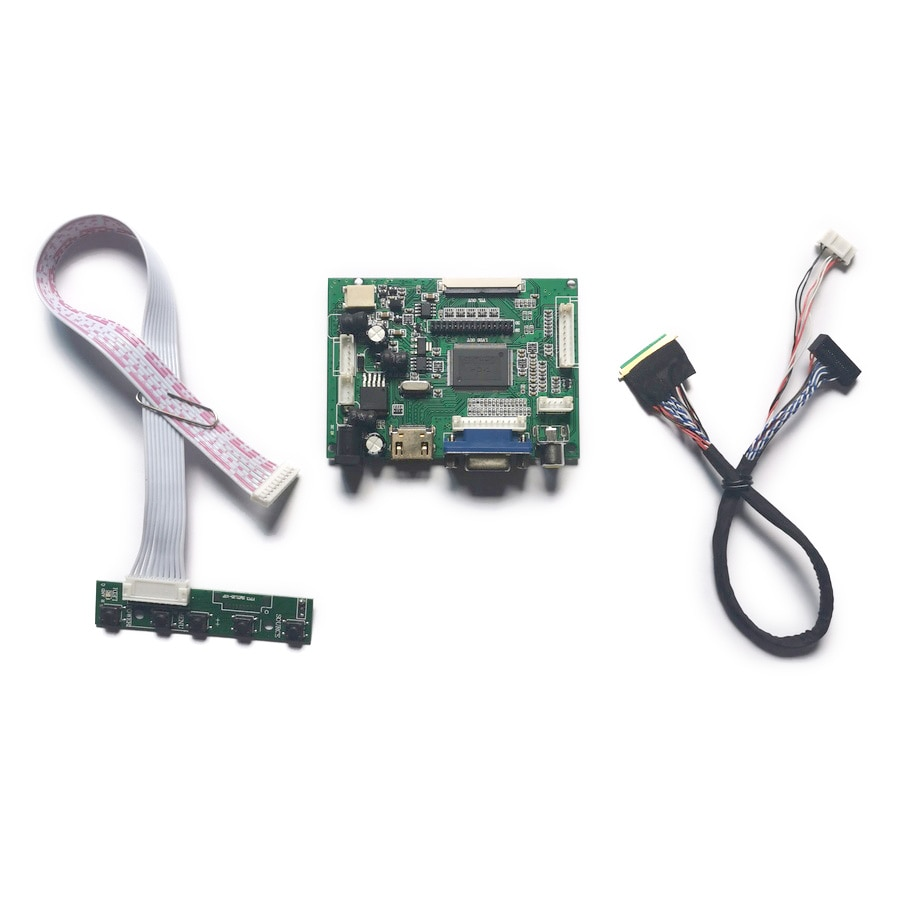 شاشة VGA + AV 1024*600 fit M101NWT2/M101NWT4/N101L6/N101LGE 40-Pin WLED 60Hz LVDS شاشة الكريستال السائل وحدة تحكم محرك مجموعة