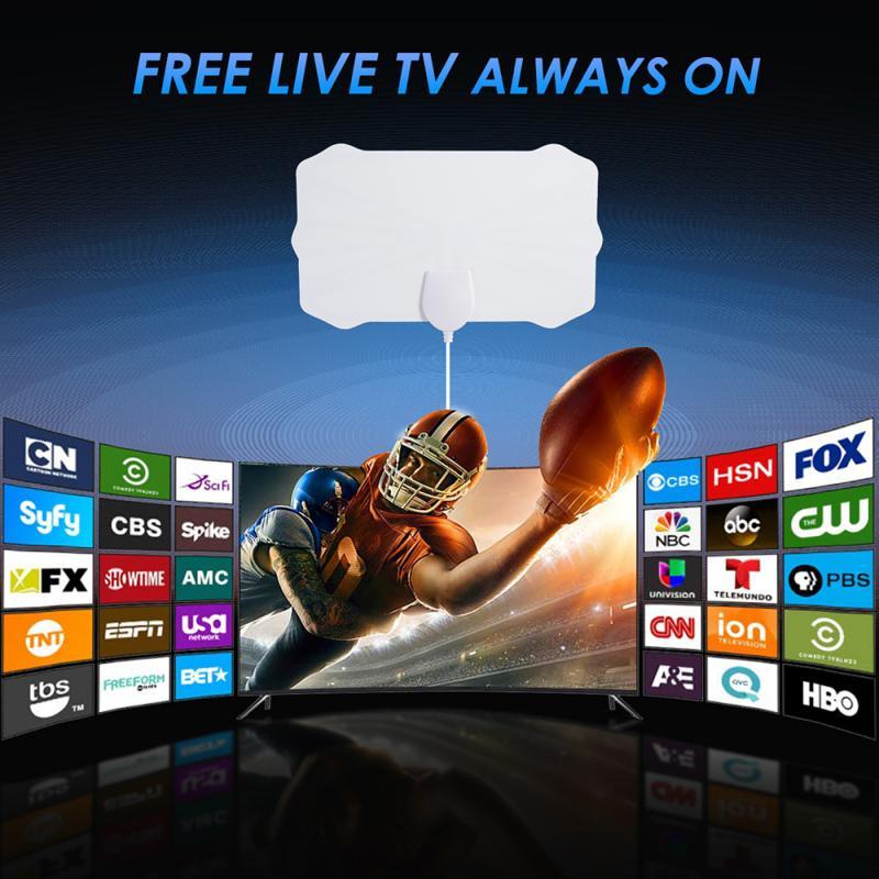 80 Mile Range антенна ТВ цифровая 4K 1080P HD Skywire антенна цифровая внутренняя HD ТВ антенна ТВ приемники Домашнее аудио и видео