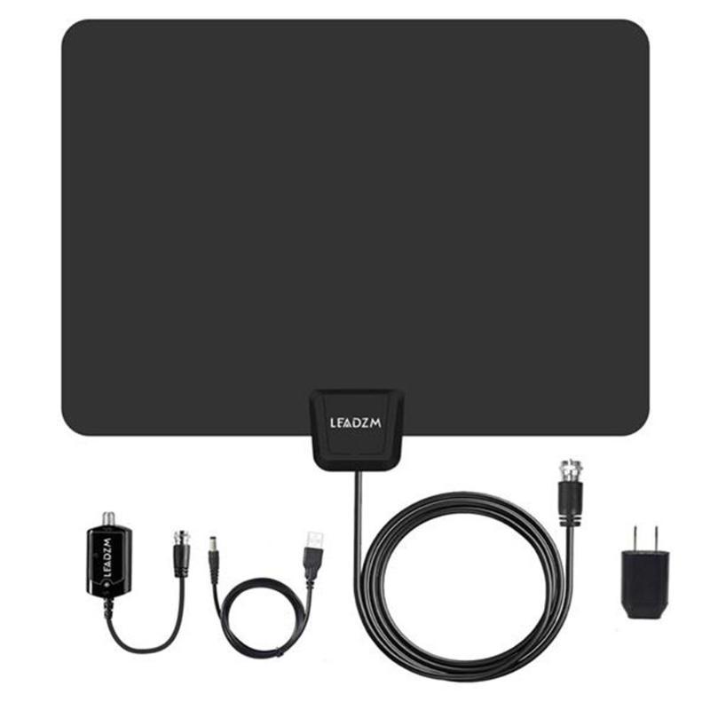 Leadzm S108 25dBi Gain 50 Miles HD Digital Indoor TV Antenna 1080P HDTV Signal Receiver Aerial US Plug Fast Shipping