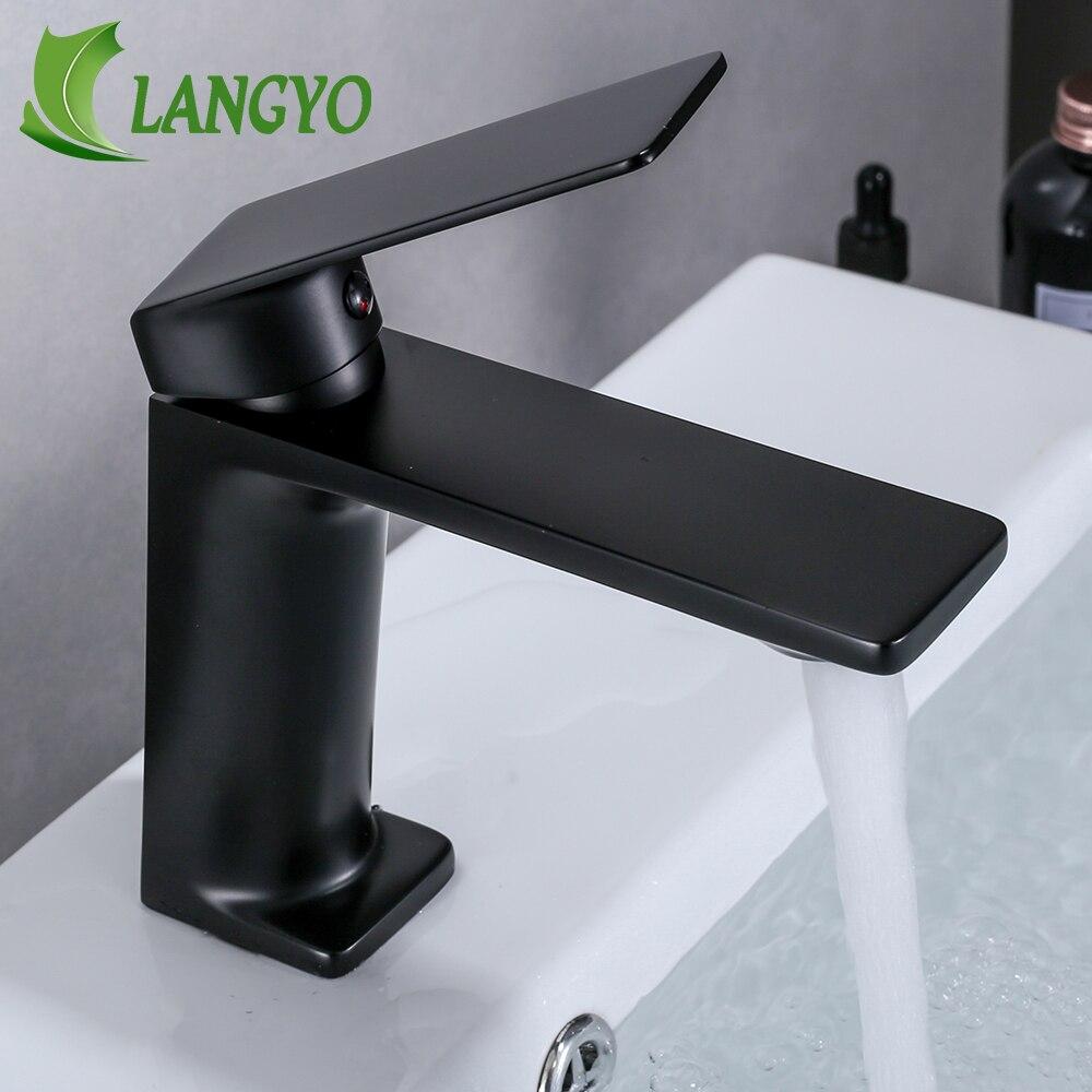 Nuevo grifo de baño grifo de latón cromado cepillo de níquel fregadero grifo mezclador tocador agua fría grifo de baño