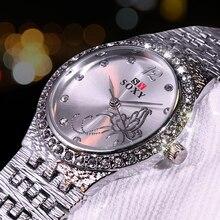 Femmes Quartz cristal de luxe montre Feminino Relogio Bracelet femmes montre-Bracelet décontracté Reloj or/argent Mujer bayan kol saati