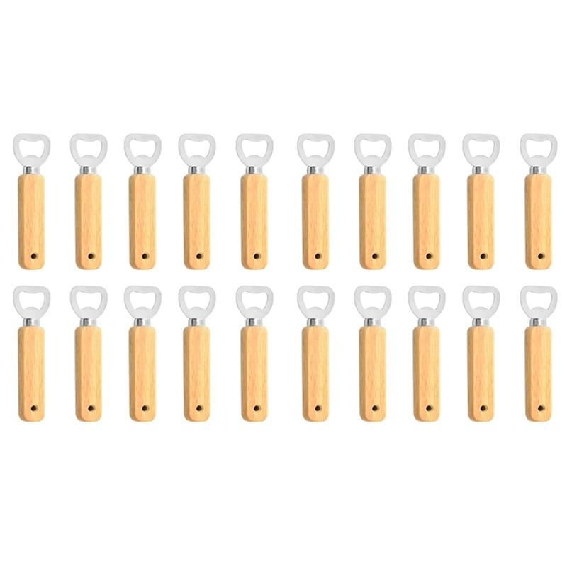 فتاحة النبيذ مع الثقوب ، 20 قطعة فتاحة الزجاجات نادل ، المطاط الخشب يده زجاجة بغطاء فتاحة الزجاجات للمنزل/المطبخ/بار