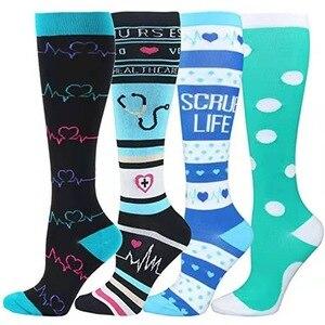 men women stockings socks sports socks men's and women's leisure nurse long tube fitness socks pressure compression socks