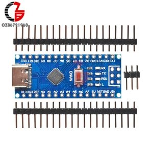 Плата разработки 5 в Type-C Micro USB C CH340 Nano V3.0 ATMEGA328P-MU ATMEGA328 с автоматическим переключением датчика для Arduino
