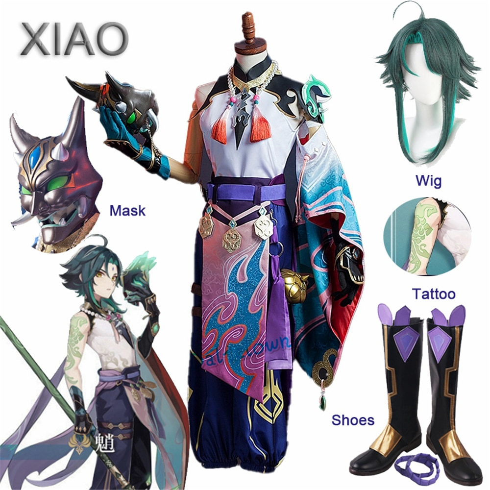 2017 100% new charms costume game kennen cosplay cute plush cotton hat cao with mask for gamer christmas halloween gift cs203 Game Genshin Impact Xiao Cosplay Costume Kimono Outfit Wig Tattoo Mask Cosplay Anime Halloween Costume For Women Men