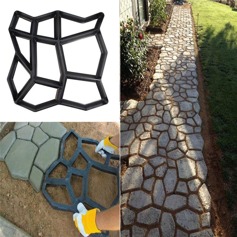 Manually Paving DIY Brick Plastic Path Maker Mold Reusable Concrete Cement Stone Design Paver Walk Mould For Park Garden