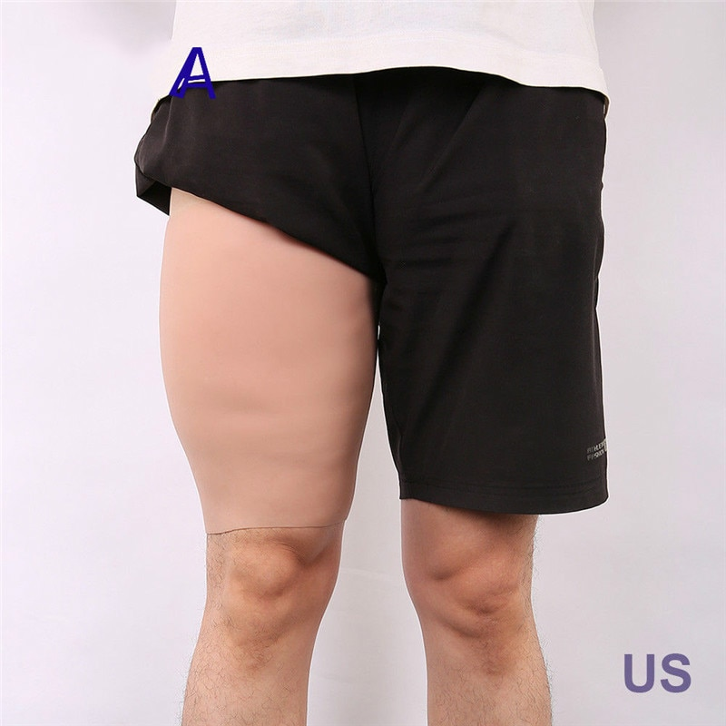 New 2600g/Pair Full Silicone Sturdy Thighs Enhancer Shaper Wear 3cm Thickness Legs Sheath For Men's Styles Stronger Cosplay Gift