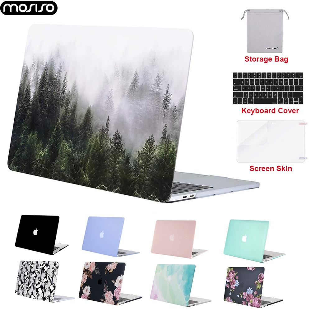 Mosiso para novo macbook pro 16 polegada 2019 fosco caso do portátil para macbook ar 13 pro 13 15 barra de toque notebook casca dura caso capa