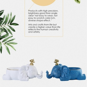 Simple And Modern Resin Crafts Elephant Mobile Phone Holder Ornaments Home Living Room Remote Control Key Storage Decoration