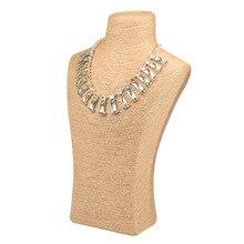 Corde de chanvre PVC Portrait collier présentoir porte bijoux Mannequin buste cou bijoux présentoir WJ51912