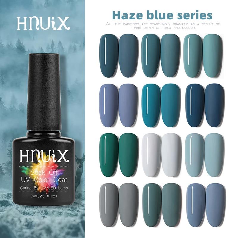 AliExpress - HNUIX Top Coat UV Gel Nail Polish Dark Blue Matte Series Dip on Warm Colors Soak Off UV LED Gel Varnish Nail Art 7ml