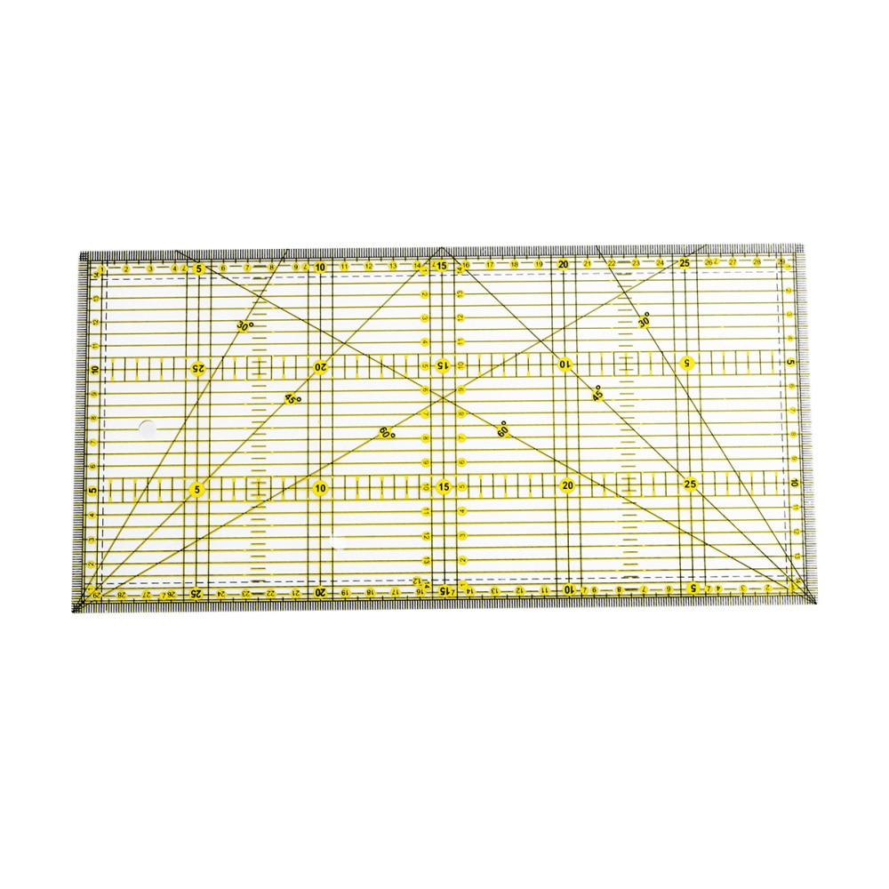 DIY Quilter's Ruler with Double Color Grid Lines for Easy Precision Slitting(x 30cm)