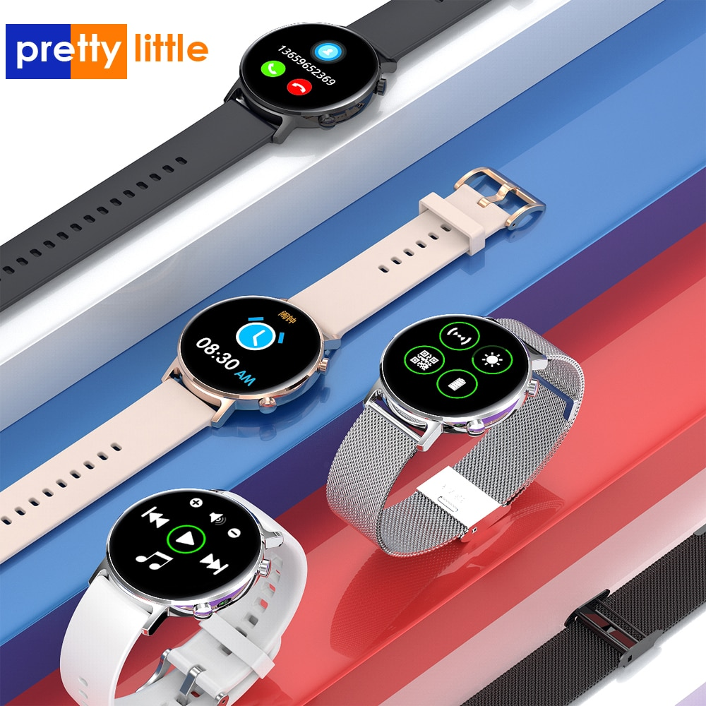 2020 completamente táctil reloj inteligente de los hombres 390*390 píxeles Pantalla Amoled IP68 impermeable SmartWatch para Android IOS teléfono Fitness Tracker