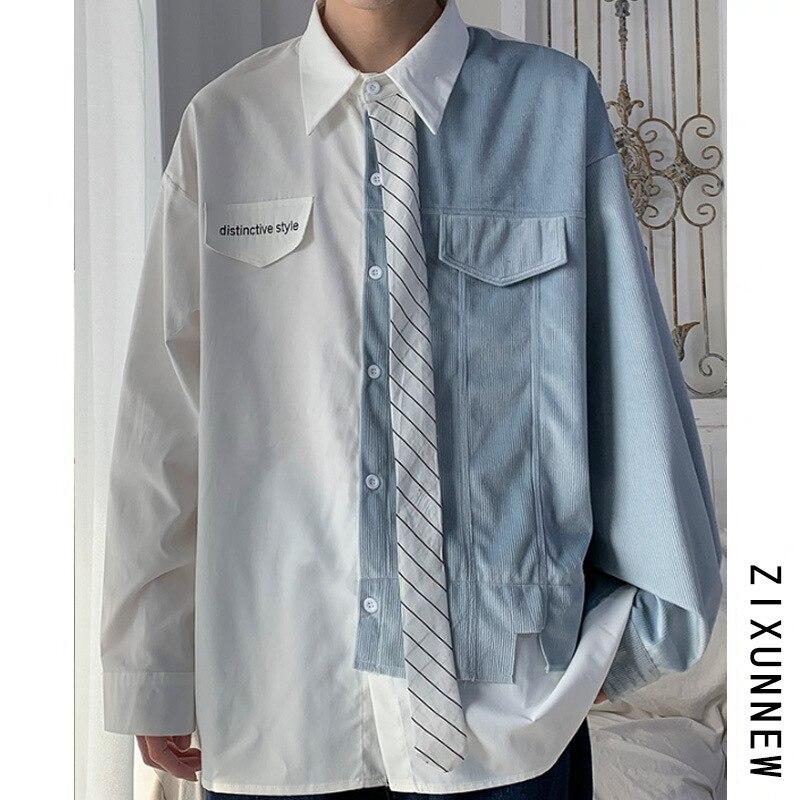 Мужская рубашка с длинным рукавом, летняя рубашка с длинным рукавом
