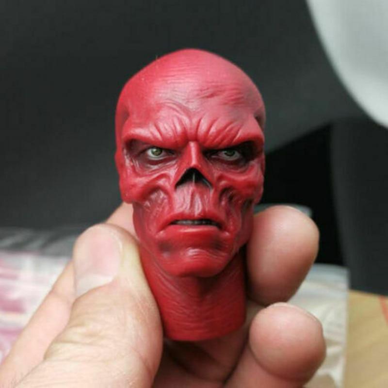 1/6 Red Skull Johann Shmidt Head Carved Captain America F 12'' Figure Body Model