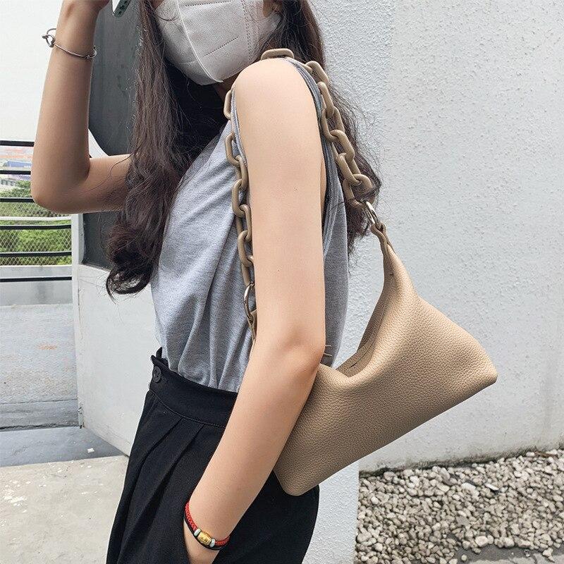 موضة أكريليك سلسلة صندوق مربع صغير جودة عالية جلد حقيبة كتف نسائية مناسبة لمختلف المناسبات عبر الجسم حقيبة