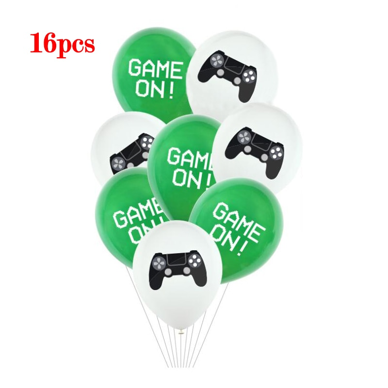 Video Game On Latex Balloons Boys Birthday Party Decorations Air Balls Kids Favors Game Helium Globos Baby Shower ballon Decor