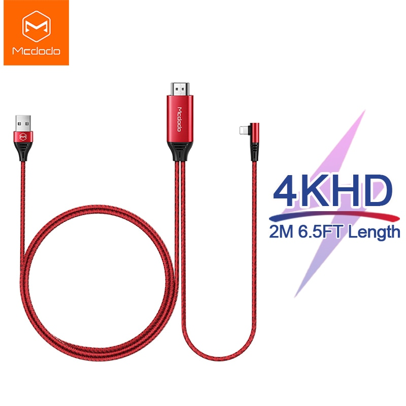 Mcdodo-كابل USB متوافق مع HDMI 4K HD ، لهاتف iPhone 12 11 X XR XS Max iPad to TV AV ، محول lightning ، جهاز عرض
