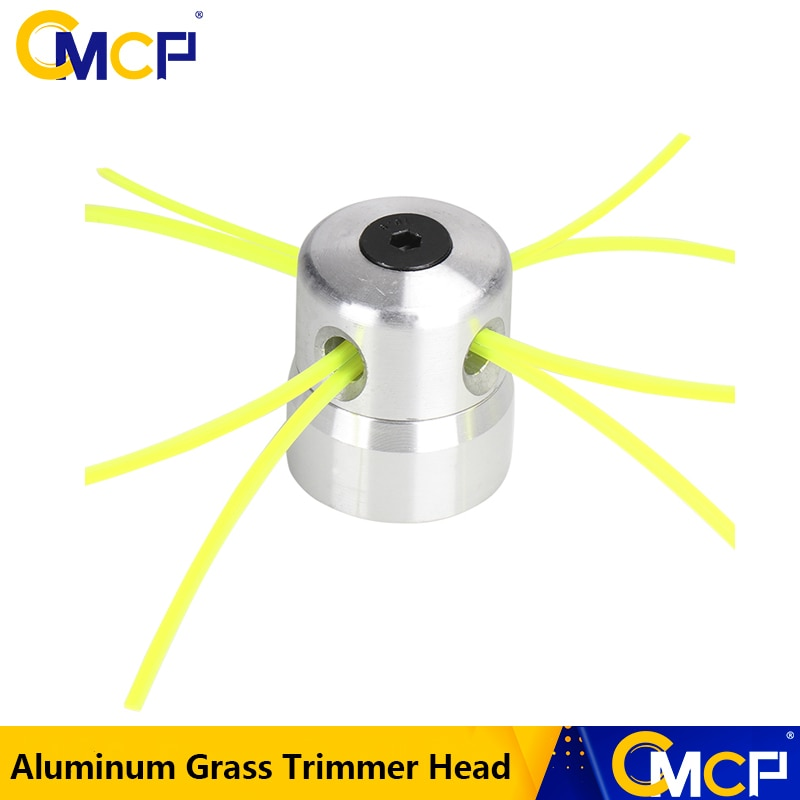 AliExpress - CMCP Aluminum Grass Trimmer Head With 4 Lines Brush Head Lawn Mower Accessories Cutting Line Head for Strimmer Replacement