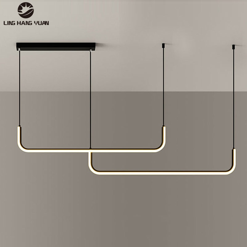 L120cm LED Chandeliers for Bedroom Dining Room Kitchen Living Room Decor Hanging Lighting Lustre Home Indoor Chandelier Lighting