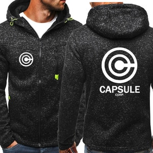 New Spring Autumn Men's Capsule Logo Hoodie Fashion High Quality Hooded Sweatshirts Jacket Zipper Clothing 3 Color