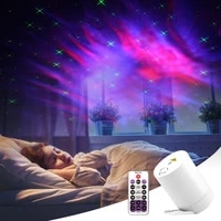 night light starry sky projector water wave lamp led star music rotating remote control bluetooth bedroom bedside lamp