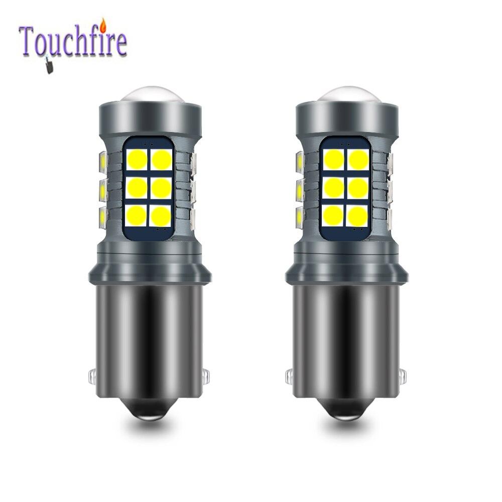 2 uds., 1156 BA15S P21W BAU15S PY21W BAY15D, bombilla LED Canbus 1157 P21/5W R5W 7440 W21W 3030 21SMD, luz DRL de marcha atrás, 12V