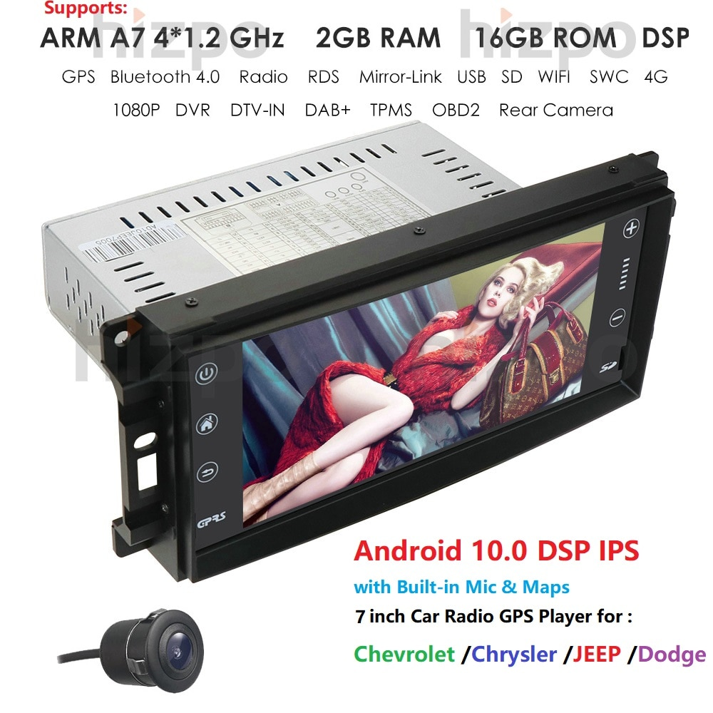 JK para JEEP WRANGLER SIN DVD CD GPS APPLE CARPLAY ANDROID 10,0 AUTO de reemplazo de la unidad DSP IPS 4G 64G USB OBD RDS DTV SWC WIFI