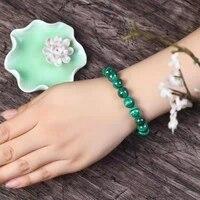 natural stone bracelet green malachite bracelet beads energy yoga 6 8 10 12 14 16mm hand elastic for jewelry making