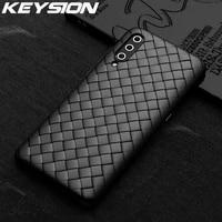 KEYSION Griglia Tessitura Per Il Caso di Xiaomi Mi 10 Pro 9T Nota 10 Mi 9 Lite A3 Della Copertura Del Telefono per redmi Nota 9S 9 Pro Max 8 T K20 F2 Pro X2