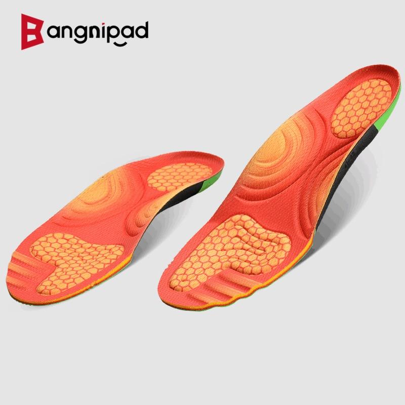 BANGNIPAD Professional Basketball Insoles Sports High Elastic Poron Shoe Pad Shock Absorption Sweat Deodorant Sole for Men Women
