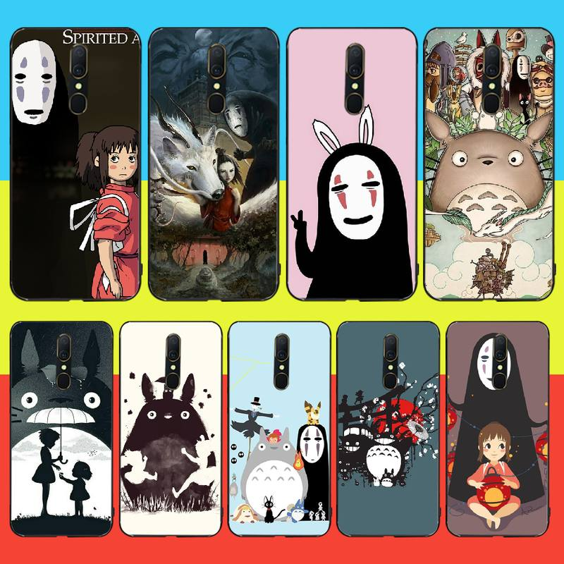 PENGHUWAN Totoro Chihiro ghibli miyazaki anime foto personalizada funda de teléfono suave para Oppo A5 A9 2020 A11x A71 A73S A1K A83 funda