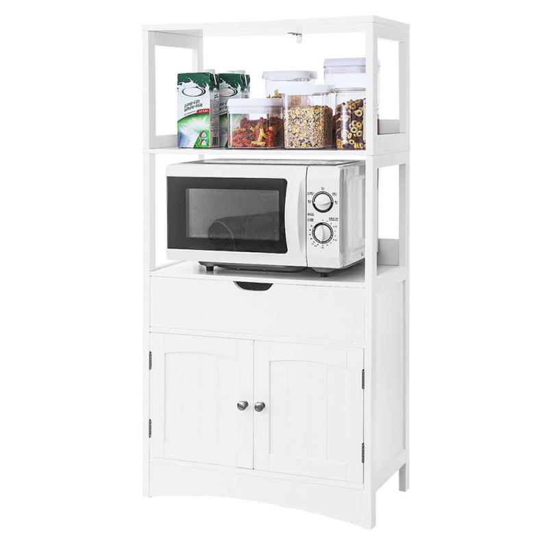 Floor Standing Shelf Storage Cabinet With Drawer Corner Shelf Sundries Home Furniture Kitchen Storage Racks Bathroom Vanity HWC