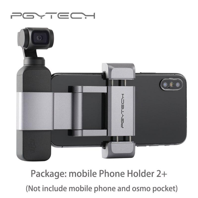 PGYTECH DJI Osmo Pocket Accessories Foldable Phone Holder Mount Bracket Set Fixed Stand Bracket for DJI Osmo Pocket Stabilizer