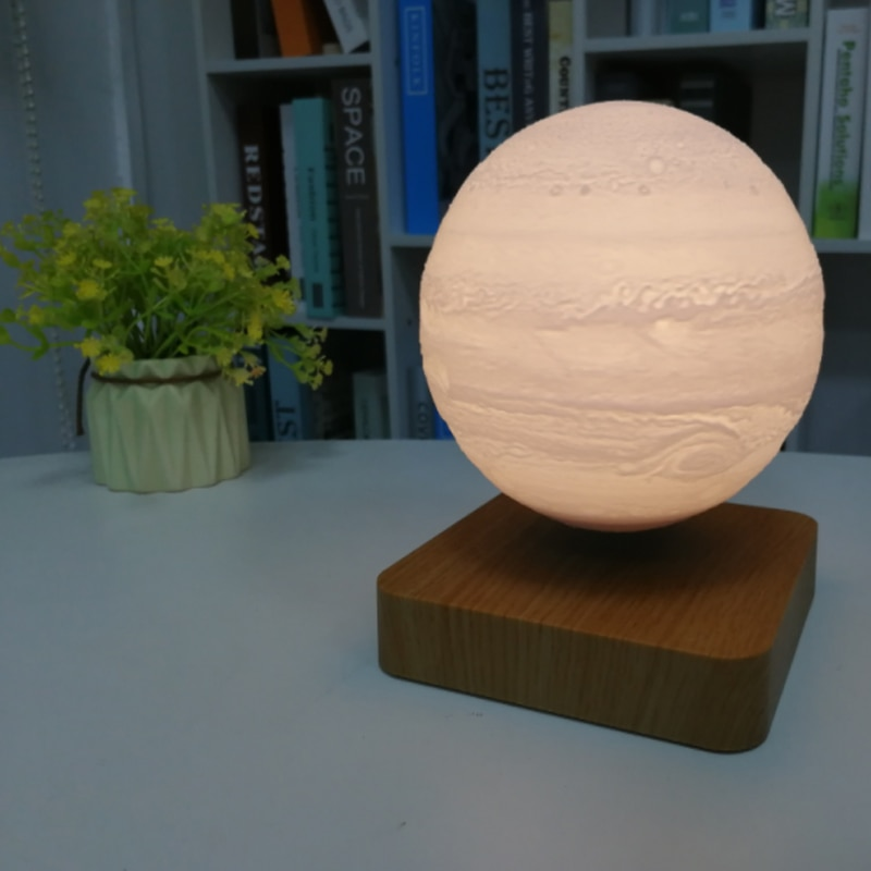 New LED Night Light Rotating Floating Creative 3D Magnetic Magnetic Levitation Desktop Decoration Valentine's Day Christmas Gift enlarge
