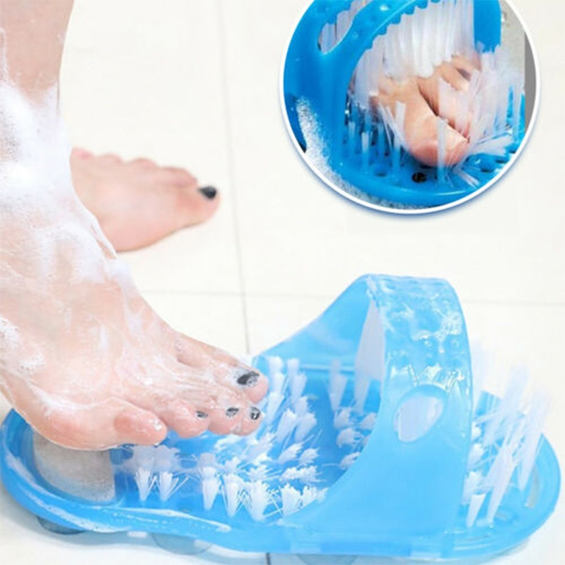 Nuove donne pantofole massaggiatore scarpe da bagno per piedi spazzola per doccia prodotti per il bagno pietra pomice Scrubber per i piedi pulizia dei piedi