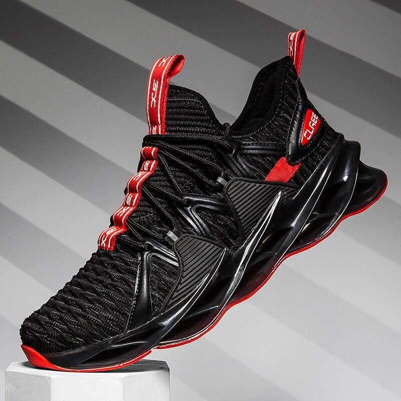 Original dos homens correndo sapatos de lâmina tênis 2020 malha ar sapatos de corrida do esporte dos homens sola tênis amortecimento sapatos de caminhada