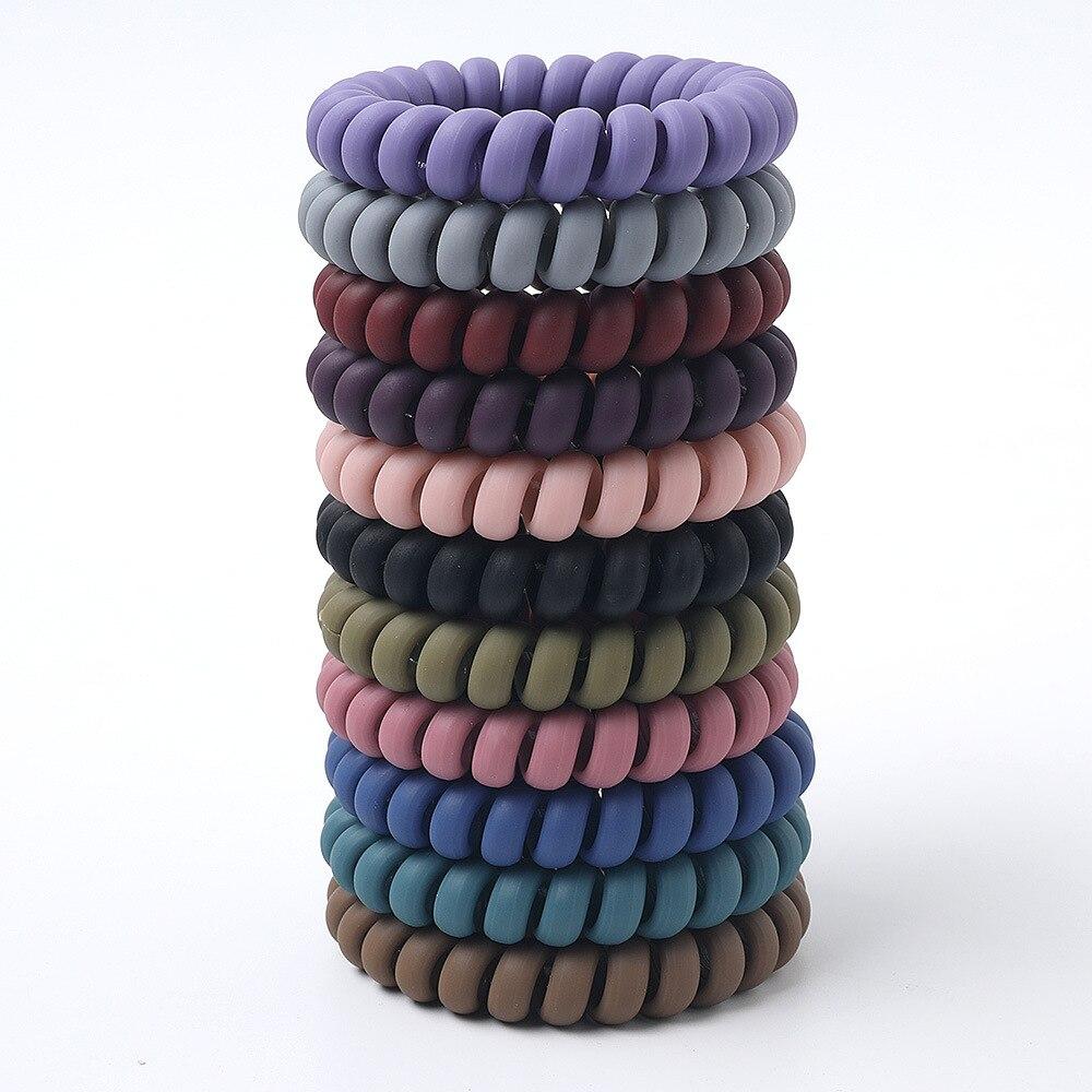 Женские резиновые ленты Matt Colors, толстые, большие, телефонные, эластичные, глубокие цвета, не отмеченные спиральными катушками, 1 комплект