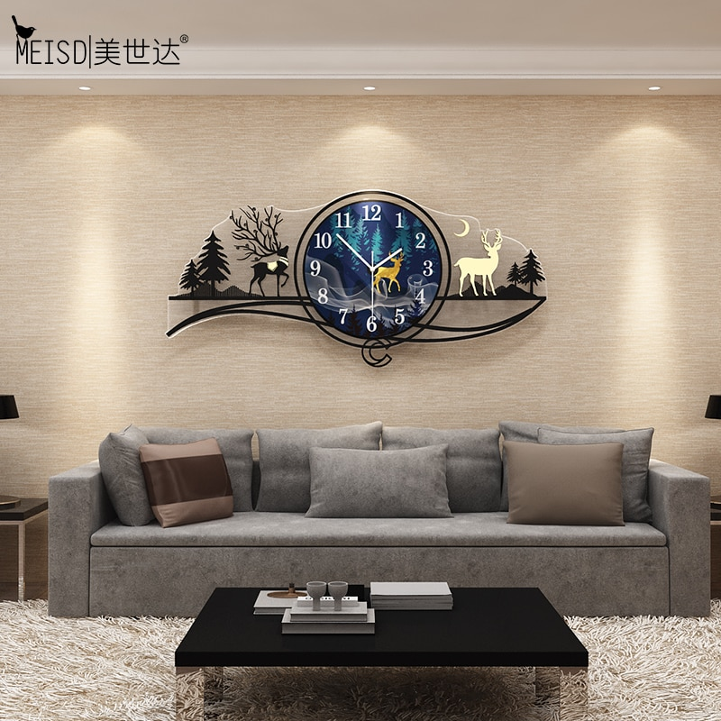 MEISD Large Wall Clock Creative Modern Design Watch Bedroom Wall Decoration Interior House Decor Quartz Horloge Free Shipping