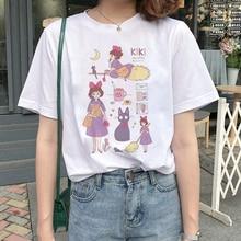 Lus Los 2019  Magic Girl Kiki arajuku summer womens new ins fashion cartoon printed  short-sleeved casual T-shirt