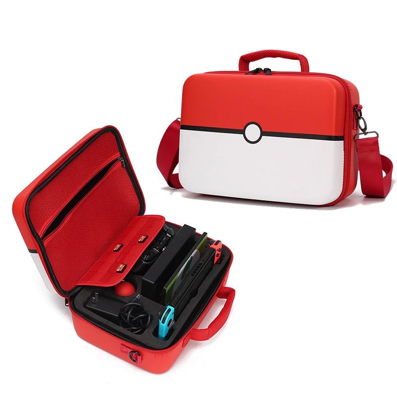 Bolsa para nintendo switch, saco de mão para armazenamento de acessórios, para jogos, pokeboplus