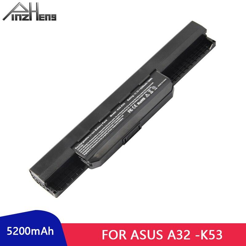PINZHENG 5200mAh بطارية لابتوب ASUS A32-K53 X43 K53 سلسلة 6 خلايا كمبيوتر محمول Bateria X44H X54H X84H X43B بطارية كمبيوتر محمول