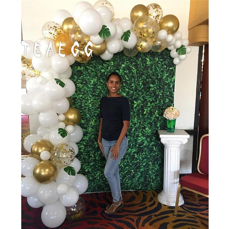 100 Uds Pastel oro blanco látex globo Gril decoración para fiesta de feliz cumpleaños telón de fondo novia para ser boda fotografía suministros
