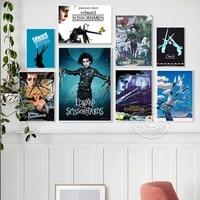 edward scissorhands gothic fantasy movie vintage art prints poster character illustration canvas painting interior wall decor